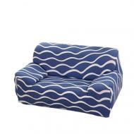 Чехол для дивана натяжной 2х 3х местный Stenson R26306 145-185 см Синий (008825)