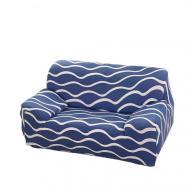 Чехол на кресло диван натяжной Stenson R26299 Blue 90-145 см Синий (008832)