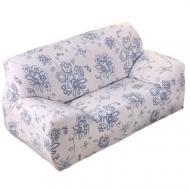 Чехол на диван натяжной 2х 3х местный Stenson R26303 145-185 см Белый (008822)