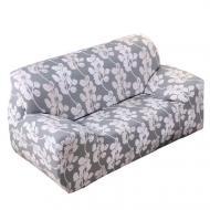 Чехол для кресла дивана натяжной Stenson R26297 90-145 см White Grey (008830)