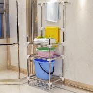 Складной стеллаж (этажерка) с полками для хранения вещей Supretto (5862)