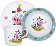 Набір дитячого посуду Cow 3 предмети