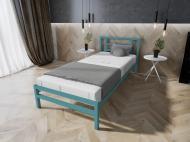 Кровать MELBI Берта Односпальная 80*200 см Бирюзовый (КМ-023-01-2бир)