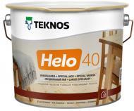 Лак Helo 40 TEKNOS напівглянець 0,9 л безбарвний