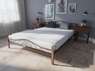 Кровать MELBI Элис Люкс Вуд Двуспальная  160*200 см Бордовый лак (КМ-018-02-10бор)