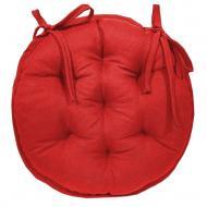 Подушка на стілець кругла rainbow червона