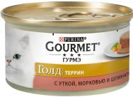 Корм Gourmet Gold паштет з качкою морквою і шпинатом по-французьки 85 г