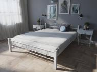 Кровать MELBI Лара Люкс Вуд Двуспальная  140*190 см Белый (КМ-015-02-3бел)