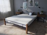 Кровать MELBI Лара Люкс Вуд Двуспальная  140*190 см Ультрамарин (КМ-015-02-3уль)