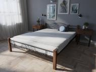 Кровать MELBI Лара Люкс Вуд Двуспальная  160*190 см Коричневый (КМ-015-02-5кор)