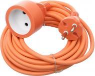 Подовжувач Amperia без заземлення 1 гн. помаранчевий 5 м AMPERIA5