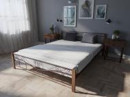 Кровать MELBI Эмили Двуспальная  180*200 см Бордовый лак (КМ-011-02-8бор)