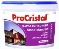Фарба силіконова ProCristal Fasad-standart ИР-133 мат білий 5л
