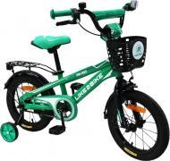 Велосипед детский Like2bike Dark Rider черно-зеленый 201403