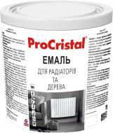Емаль ProCristal акрилова для радіаторів та дерева RAL 1015 слонова кістка глянець 0,8л