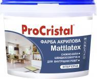 Краска акриловая ProCristal Mattlatex ИР-232 мат белый 1л