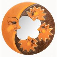 Зеркало мозаичное Arjuna Луна и Звезды d-20 cм 29673 Оранжевый (45497)