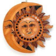 Зеркало мозаичное Arjuna Луна-Солнце d-20 cм 29849 Оранжевый (45500)
