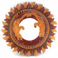 Зеркало мозаичное Arjuna Слоны d-50 cм 30240 Золотой/Коричневый (45502)