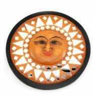 Зеркало мозаичное Arjuna Солнце d-20 cм 29902 Оранжевый (45518)