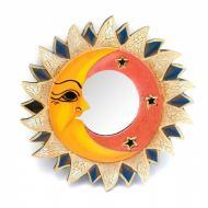 Зеркало мозаичное Arjuna Солнце и Луна d-20.5 cм 29379 Разноцветный (45510)