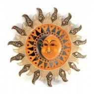 Зеркало мозаичное Arjuna Солнце и Луна d-50 cм 29893 Разноцветный (45514)