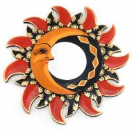 Зеркало мозаичное Arjuna Солнце и Луна d-30 cм 30601 Разноцветный (45511)