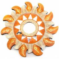 Зеркало мозаичное Arjuna Солнце d-20 cм A 30287A Золотистый (45519)