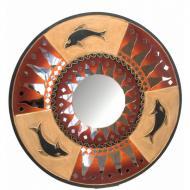 Зеркало мозаичное Arjuna Солнце d-50 cм 29605 Золотистый (45505)