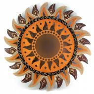 Зеркало мозаичное Arjuna Солнце d-50 cм 30242 Золотистый (45528)