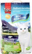 Наповнювач для котячого туалету  Topsi Біогранула midi 5 кг