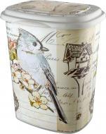 Корзина для белья Elif Plastik Птицы (OZ-PO-339-18ma)