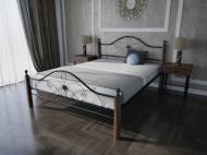 Кровать MELBI Фелиция Вуд Двуспальная 140*190 см Черный (КМ-003-02-1чер)