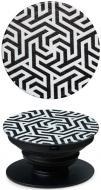 Тримач для телефона Pop 005 Монохром Luxe Cube чорний із білим