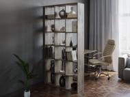 Полка для книг стеллаж для дома на 18 ячеек Rimos 1072x2128x300 мм Аликанте (Z-38_Al)