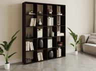 Полка для книг стеллаж для дома на 20 ячеек Rimos 1424x1776x300 мм Венге (Z-39_V)