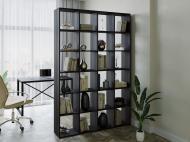 Полка для книг стеллаж для дома на 24 ячеек Rimos 1424x2128x300 мм Венге (Z-40_V)