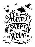 Декоративна наліпка Design stickers Дім, милий дім 29,7x42 см