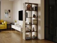 Полка для книг стеллаж для дома на 10 ячеек Rimos 720x1776x300 мм Аликанте (Z-41_Al)
