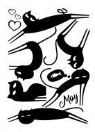 Декоративна наліпка Design stickers Чорні коти 29,7x42 см