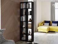 Полка для книг стеллаж для дома на 12 ячеек Rimos 720x2128x300 мм Венге (Z-42_V)