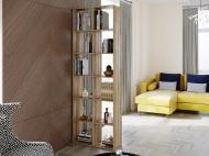 Полка для книг стеллаж для дома на 12 ячеек Rimos 720x2128x300 мм Дуб Сонома (Z-42_D)