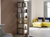 Полка для книг стеллаж для дома на 12 ячеек Rimos 720x2128x300 мм Аликанте (Z-42_Al)