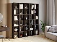 Полка для книг стеллаж для дома на 30 ячеек Rimos 1776x2128x300 мм Венге (Z-43_V)