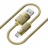 Кабель живлення Premium USB micro to USB 1 м золотий (8889986489885)