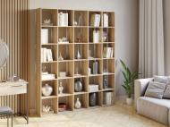 Полка для книг стеллаж для дома на 30 ячеек Rimos 1776x2128x300 мм Дуб Сонома (Z-43_D)