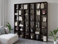 Полка для книг стеллаж для дома на 36 ячеек Rimos 2128x2128x300 мм Венге (Z-44_V)