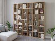 Полка для книг стеллаж для дома на 36 ячеек Rimos 2128x2128x300 мм Дуб Сонома (Z-44_D)