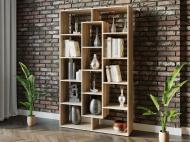 Полка для книг стеллаж для дома на 14 ячеек Rimos 1072x1776x300 мм Дуб Сонома (Z-46_D)
