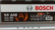 УЦІНКА! Акумулятор автомобільний Bosch S5 A08 70А 12 B 0 092 S5A 080 «+» праворуч (192019-240120)